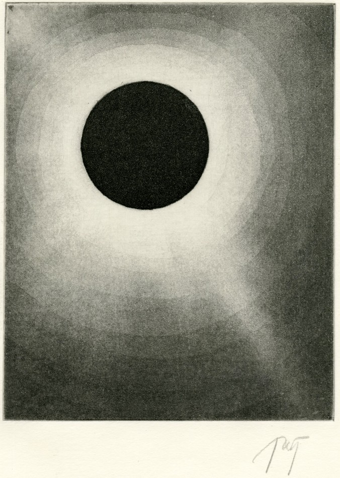 aquatint solar eclipse print