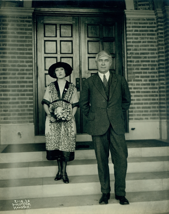 Renée Dahon and Maurice Maeterlinck, 1920-09-18