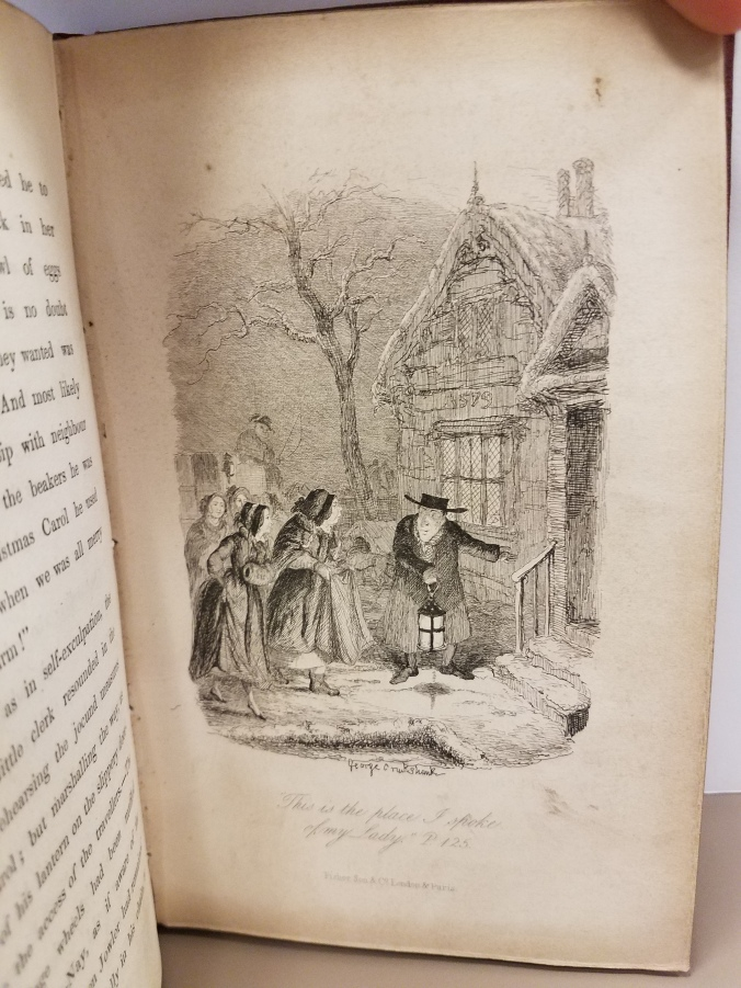 """Text reads: """"'This is the place I spoke of my Lady.' P 125."""""""