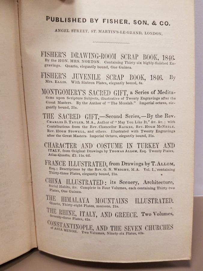 List of books published by Fisher, and Son & Co.