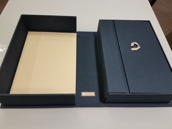 opening of box containing Encyclopedie