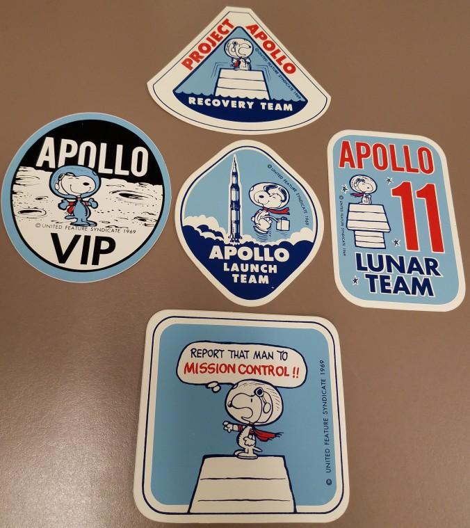 5 Apollo 11 Snoopy Stickers