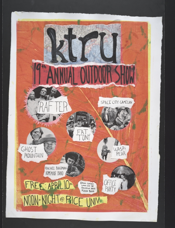 KTRU Rice University radio poster for 19th annual Outdoor Show, 2010