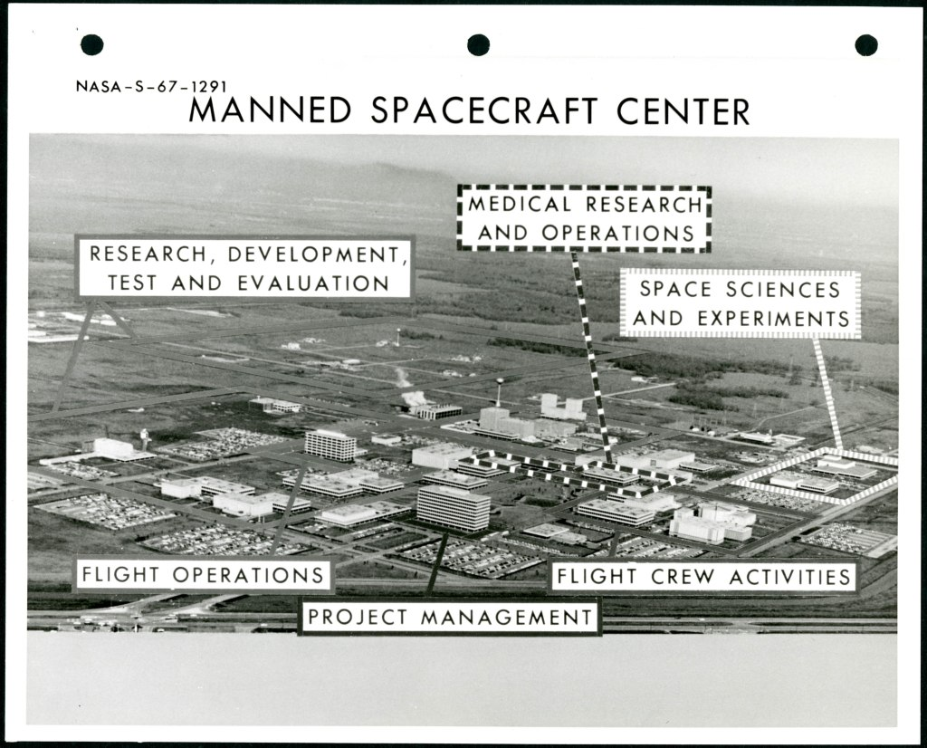Labeled Aerial View of the Manned Spacecraft Center, 1966
