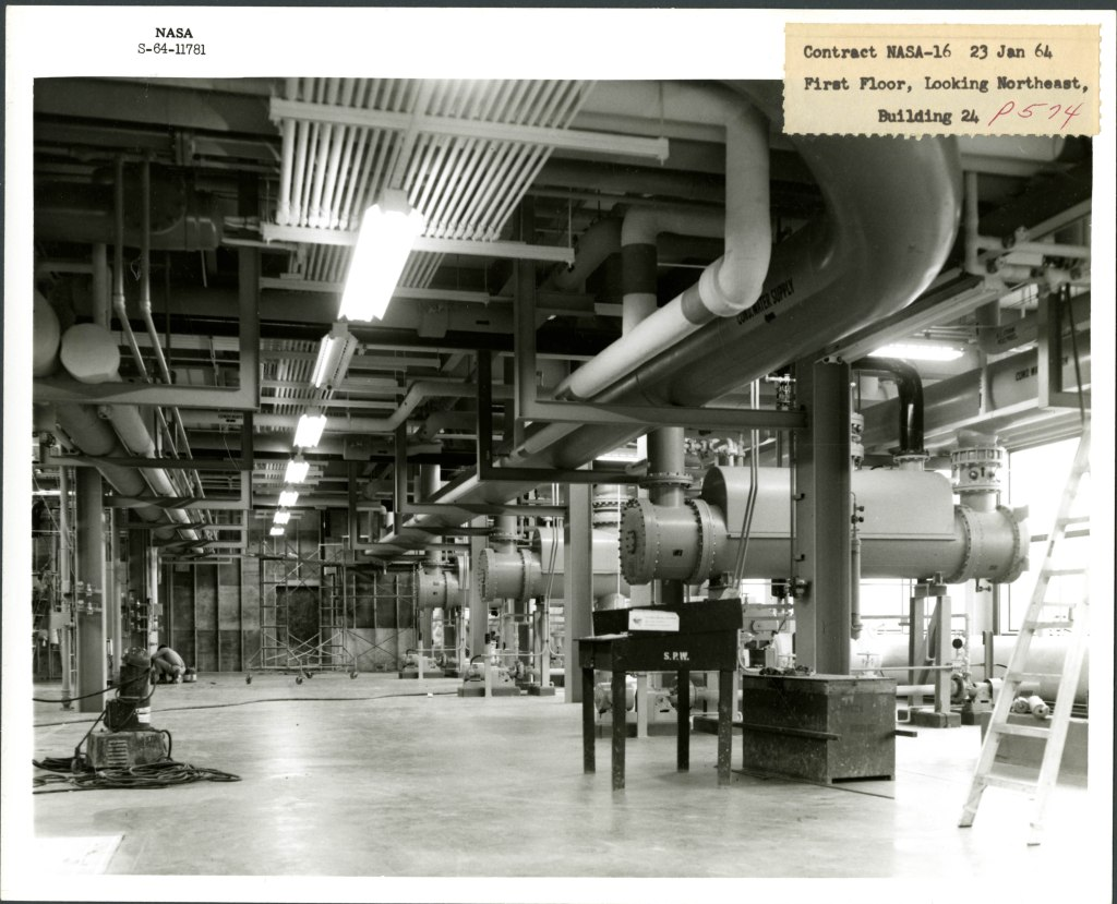 First Floor, Looking Northeast, Building 24, 1964-01-23