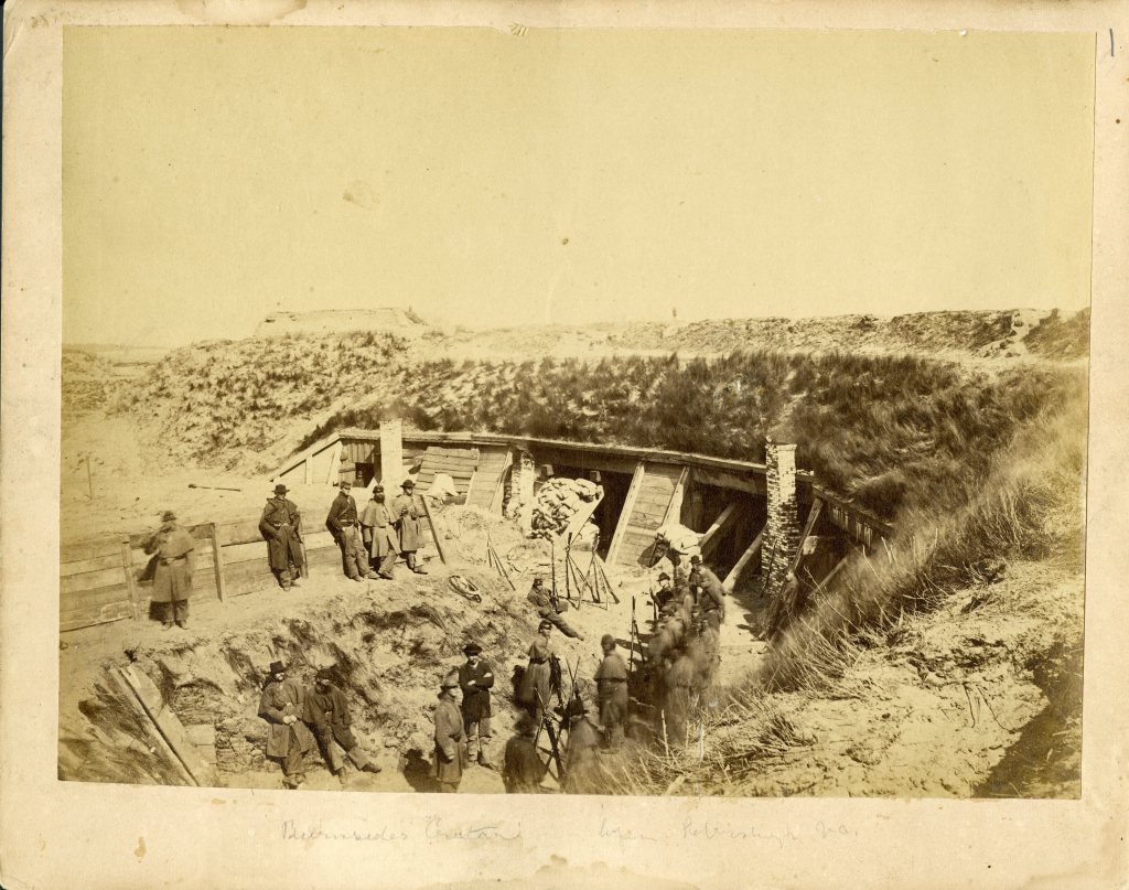 Soldiers at a fortification