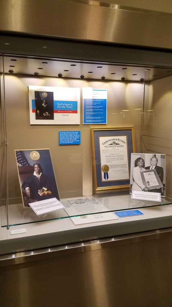 Exhibit case focusing on Judge Clarease Mitchell Rankin Yates
