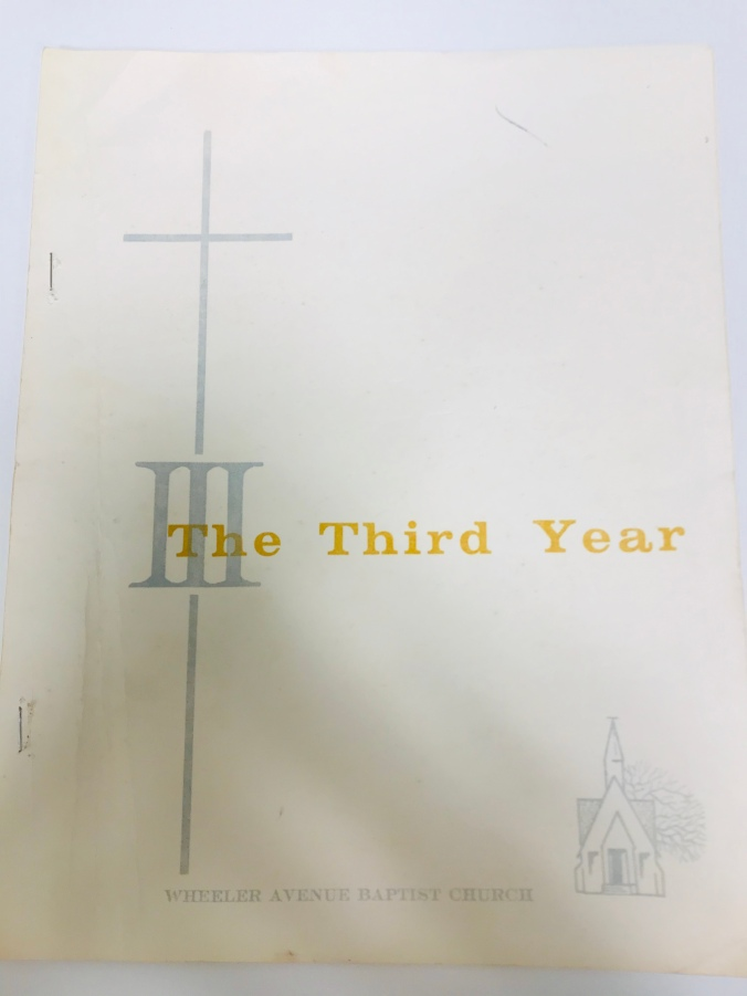 Third year anniversary booklet