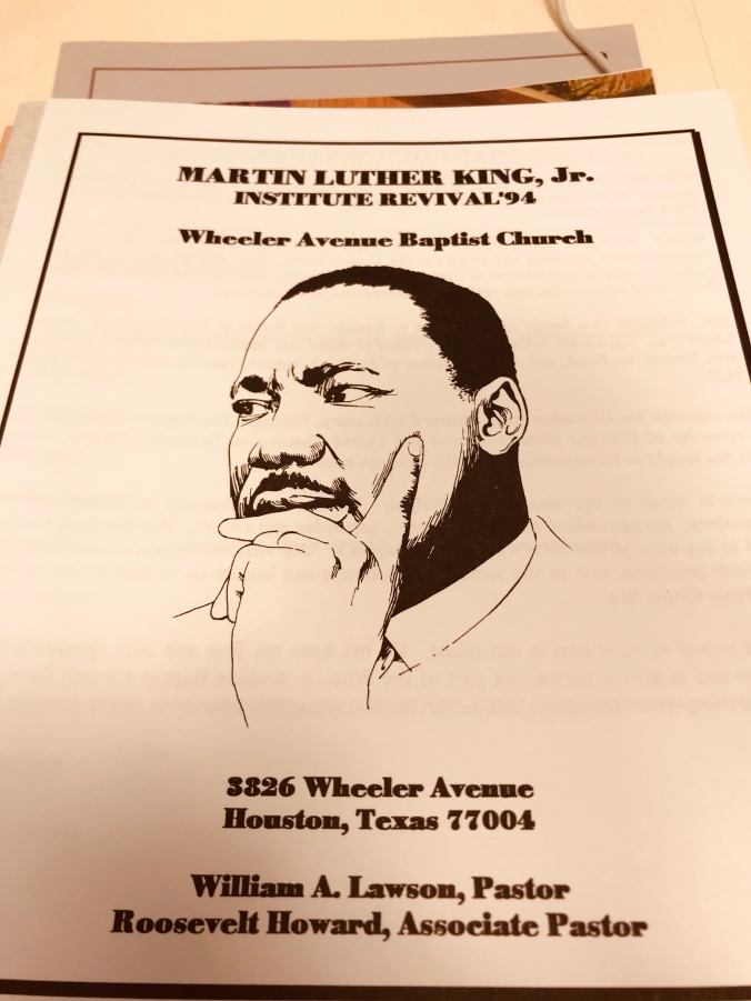 Dr. Martin Luther King, Jr. celebration booklet
