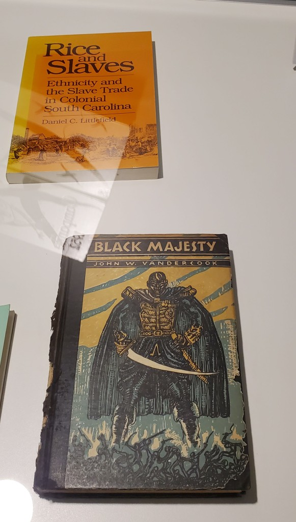Two books from the collection - Rice and Slaves; Black Majesty