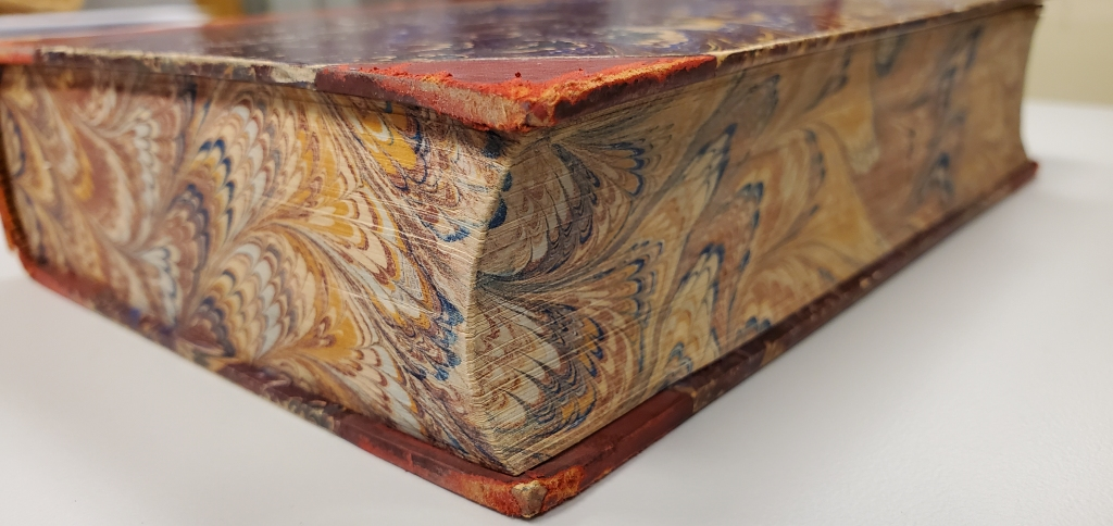 Decorated fore edge