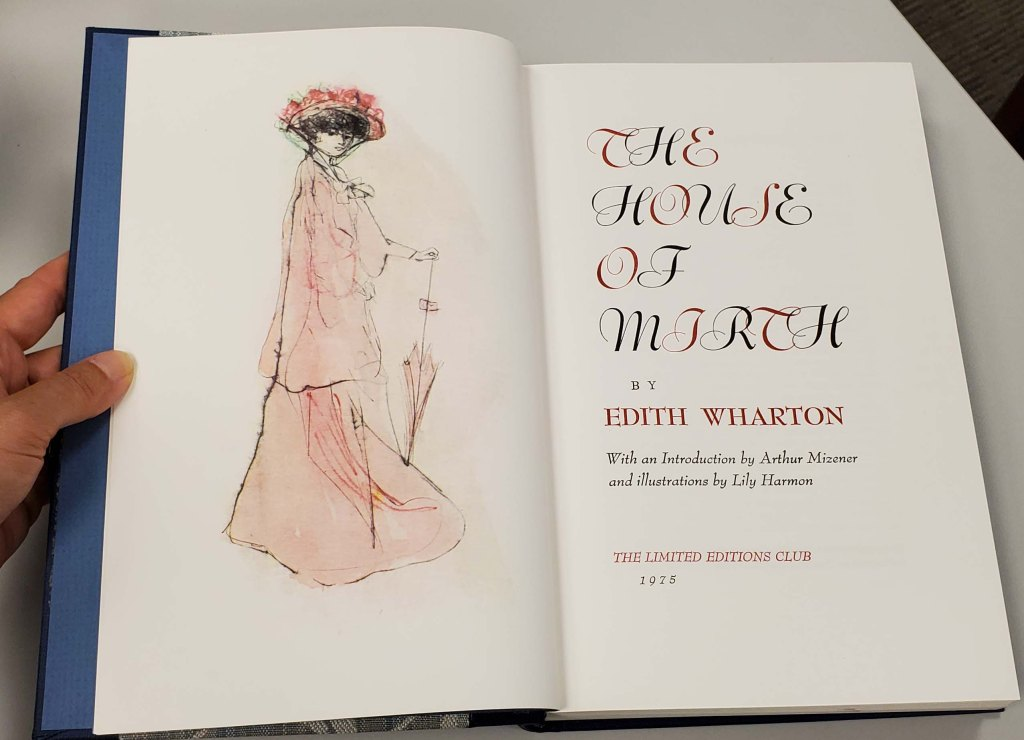 Title page with illustration on frontispiece of a woman in pink.