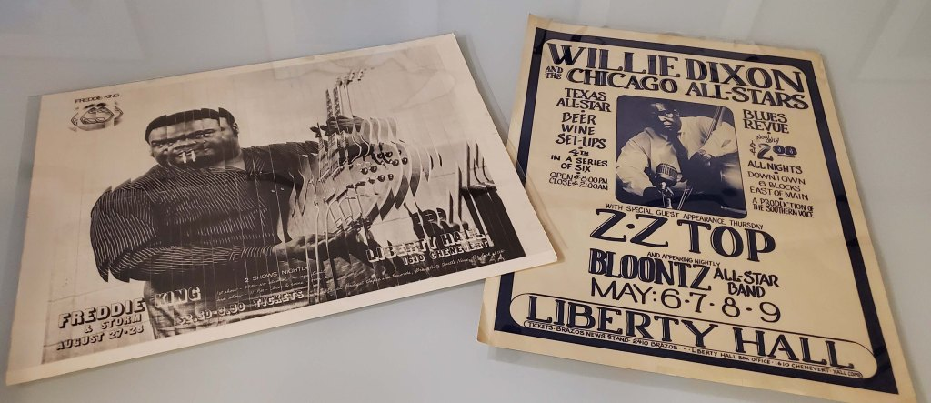 Two Liberty Hall posters: one for Freddie King and the other for Willie Dixon and the Chicago All-Stars